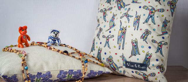 Съемка диванных подушек и валяных игрушек